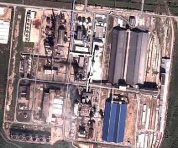 A 2. üzem műholdképe a Google Földben