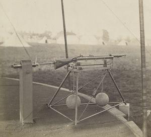 Whitworth karabély állványon 1860-ban Wimbledonban
