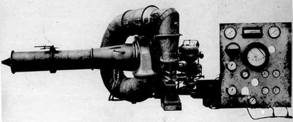 A WU nevű kísérleti gázturbina első formája