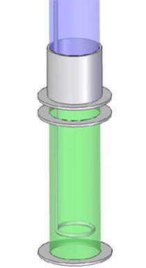 Szűrő egység áramlási szimulációs modellje