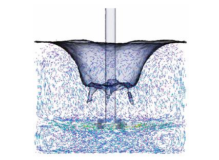 Részecskék megmutatják a vízben létrejövő áramlásokat