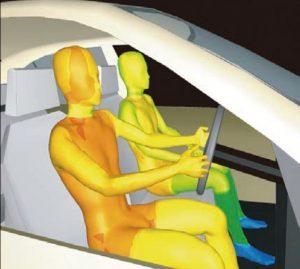 Autóban a vezető és utas testhőmérséklete
