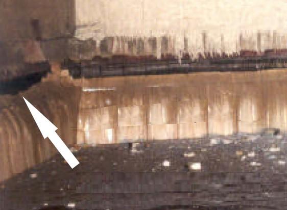 A falazat kopásának alakja a szakirodalom alapján; Forrás: RWTH Aachen University
