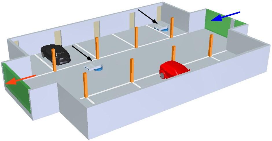 Parkolóház modell CFD szimulációhoz
